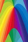 Fototapeta Tęcza - background with rainbow
