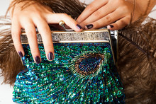 Woman Hands With Shiny Manicur...