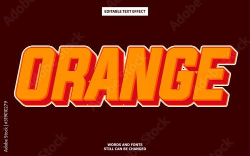 Obraz Orange editable text effect - fototapety do salonu