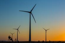 Wind Turbines At Sunset / PARQ...