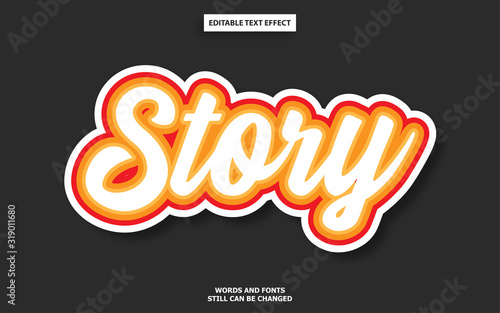 Fotomural Story editable text effect