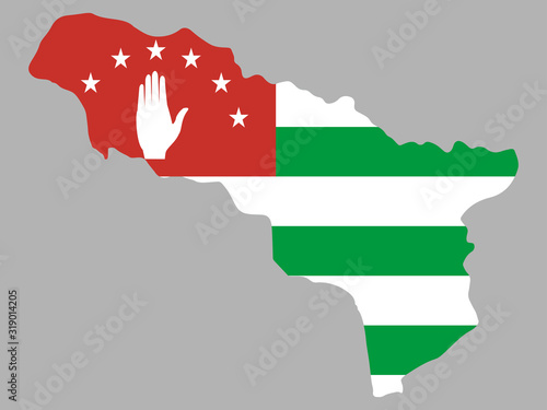 Republic Of Abkhazia map flag vector Wallpaper Mural