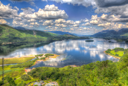 Fotografie, Tablou Derwent Water Lake District National Park Cumbria England uk with reflections an