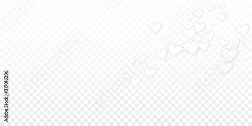 White heart love confettis. Valentine's day explos Canvas Print