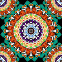 Tapestry Floral Colorful Vecto...