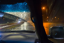 View From A Driving Car