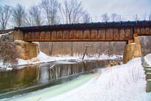 A Rusty Train Tressel Spans Mi...