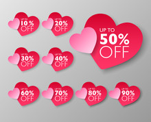 50% Off Sale Tags. Set Of 10% ...