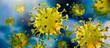 Leinwanddruck Bild - Corona Virus im Inneren des Körpers - Wuhan Virus - Virus 2019nCoV