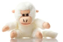 Soft Toy Baby Monkey On Isolat...