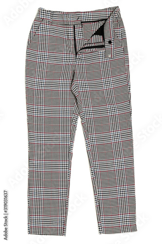 checked trousers Canvas Print