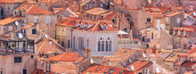 Summer Mediterranean Cityscape, Banner - View Of The Roofs Of The Old Town Of Dubrovnik, On The Adriatic Coast Of Croatia