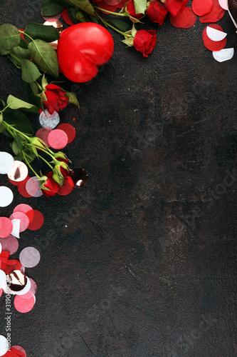 Obraz .Valentines Day background with hearts. valentine background - fototapety do salonu