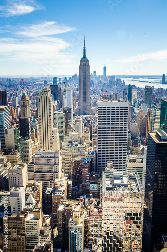 Fotografie, Obraz Aerial view of Manhattan and the Empire State Building
