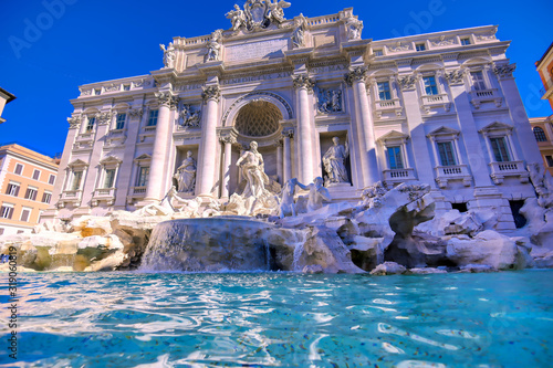 Fotografie, Obraz The Trevi Fountain located in the Trevi district of Rome, Italy,