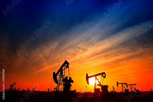 Fotografia, Obraz The oil pump, industrial equipment