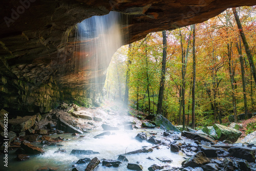 Glory Hole Falls Arkansas in autumn Wallpaper Mural