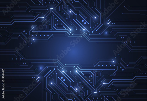 Fotografía Abstract background with technology circuit board texture