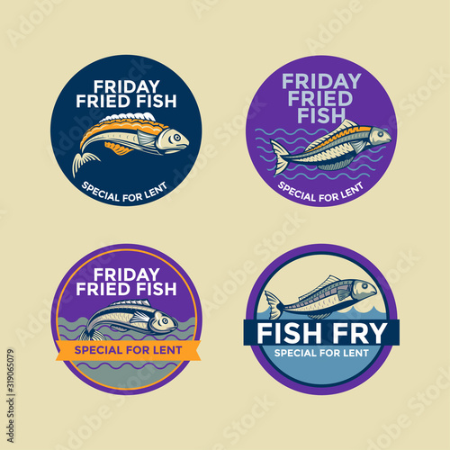 Photo Illustration of Friday fried fish special for lent vector
