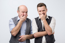 Two Caucasian Men Laughing On ...