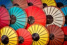 Full Frame Shot Of Colorful Umbrellas