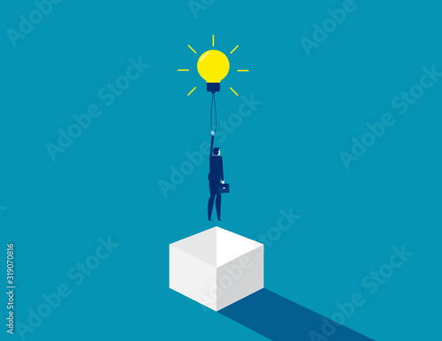 Think outside the box. Concept business idea solution, Development of ideas. Flat cartoon character style design. Fotomurales