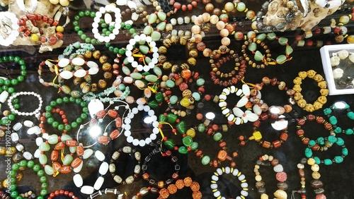 Fotografie, Obraz Full Frame Shot Of Beaded Bracelets In Store For Sale