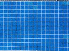 Full Frame Shot Of Blue Tiles In Swimming Pool