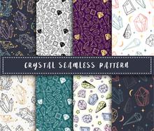 Crystal Seamless Pattern - Col...