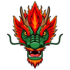 Fototapeta Zwierzęta Cartoon chinese dragon head mascot