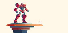 Red Robot Transformer Standing...