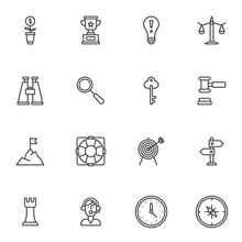 Startup Idea Line Icons Set. L...