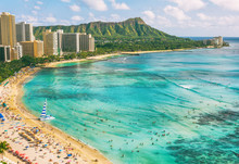 Hawaii Waikiki Beach In Honolu...