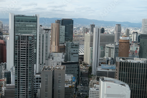 Fototapety, obrazy: HIGH ANGLE VIEW OF BUILDINGS IN CITY AGAINST SKY