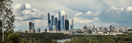 Fototapeta PANORAMIC VIEW OF CITY BUILDINGS AGAINST SKY obraz