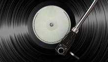Vinyl On Vintage Turntable
