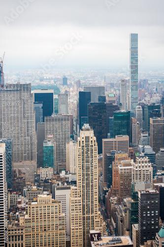 Aerial view of Manhattan skyscrapers