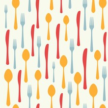 Cutlery Icon Seamless Pattern....