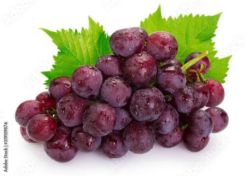 Fototapeta Fresh grape on white background obraz
