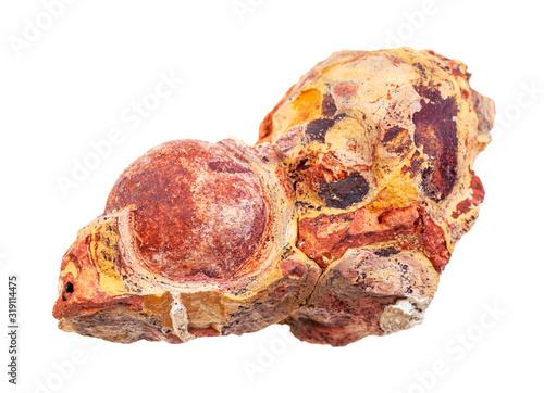 Photo raw Bauxite (aluminium ore) rock isolated