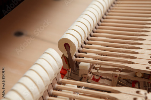 Fotografie, Tablou Close-Up Of Piano Hammers