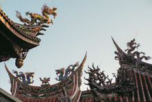 Temple Roof And Dragon Details...