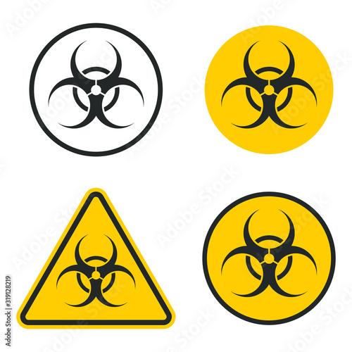 Biohazard warning safety icon shape Canvas Print