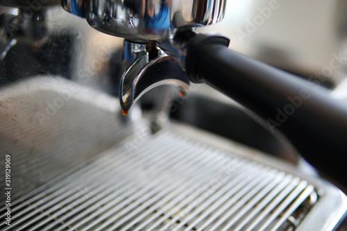 Close-Up Of Coffee Machine Fotobehang