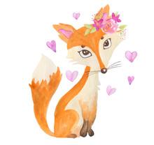 Cute Litttle Fox In Love With ...