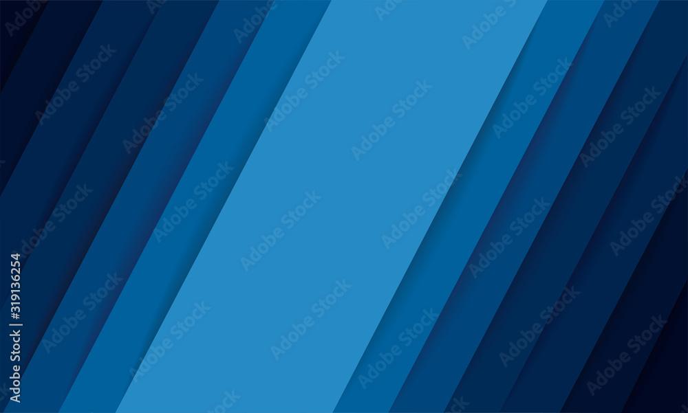 Fototapeta abstract modern blue lines background vector illustration EPS10