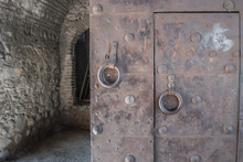 A Massive Heavy Iron Door. Ant...