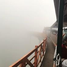 Footbridge Amidst Fog