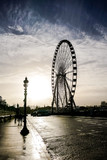 Ferris wheel in place de la Concorde, Photo image a Beautiful panoramic view of Paris Metropolitan City