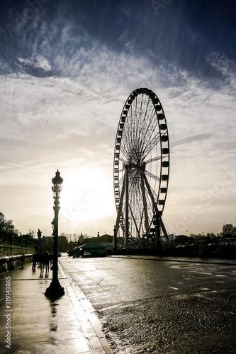 Ferris wheel in place de la Concorde, Photo image a Beautiful panoramic view of Canvas Print
